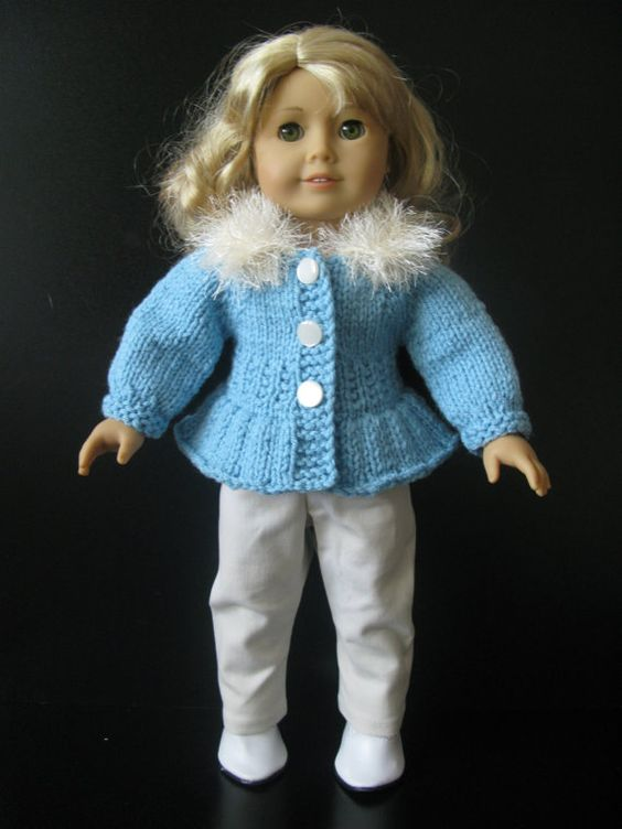 American Girl 18 inch doll beginner level Knitting von KNITnPLAY