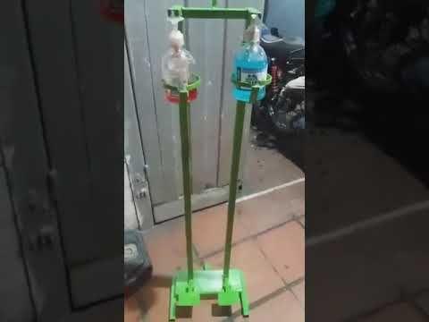 Dispensador De Gel Antibacterial Y Alcohol Con Mecanismo De Pedal Doble Funcion Youtube En 2020 Dispensador De Alcohol Desinfectante De Manos Estacion De Cafe