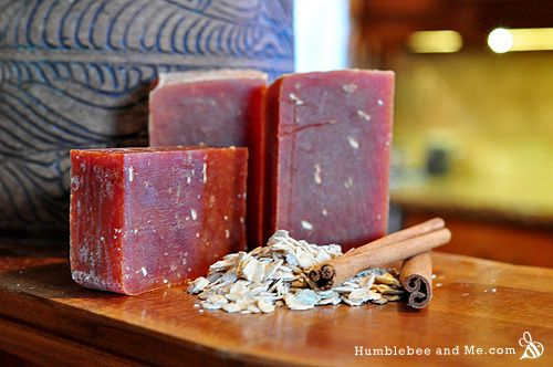 Cold Process - Cinnamon Oatmeal Soap Recipe (Use a lye calculator to determine how much lye and distilled water you'll need.)