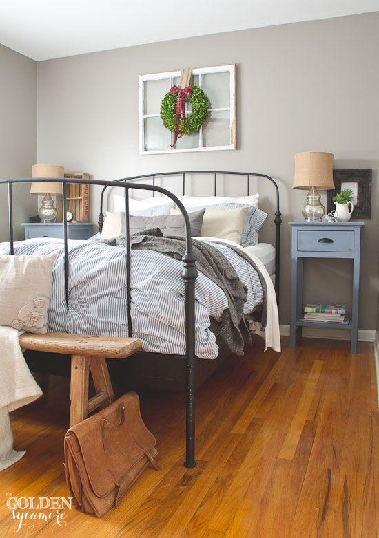 Ikea bed frames ikea bed and bed frames on pinterest for Rustic cottage bedroom