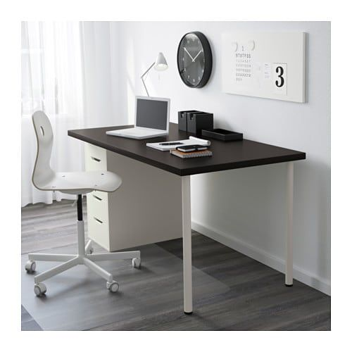 Linnmon Alex Table Black Brown White 150x75 Cm Ikea Cheap Office Furniture Drawer Unit Ikea