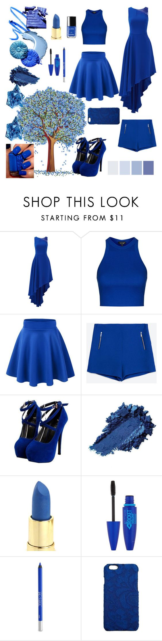 """""""Untitled #8"""" by catarina-costa-iii ❤ liked on Polyvore featuring Halston Heritage, Topshop, Zara, Maybelline, Urban Decay, Dolce&Gabbana and Thierry Mugler"""