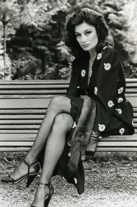 RARE HELMUT NEWTON ORIGINAL PHOTO French actress Anouk Aimee