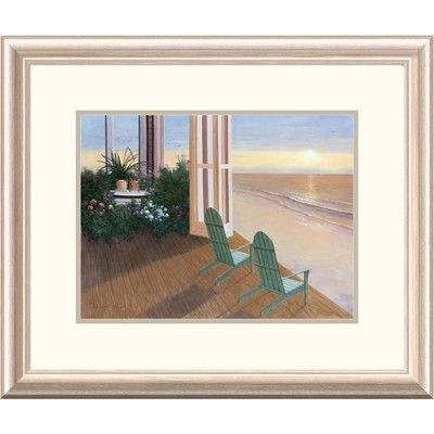Global Gallery 'Coastal Summer House' by Diane Romanello Framed Graphic Art Size: