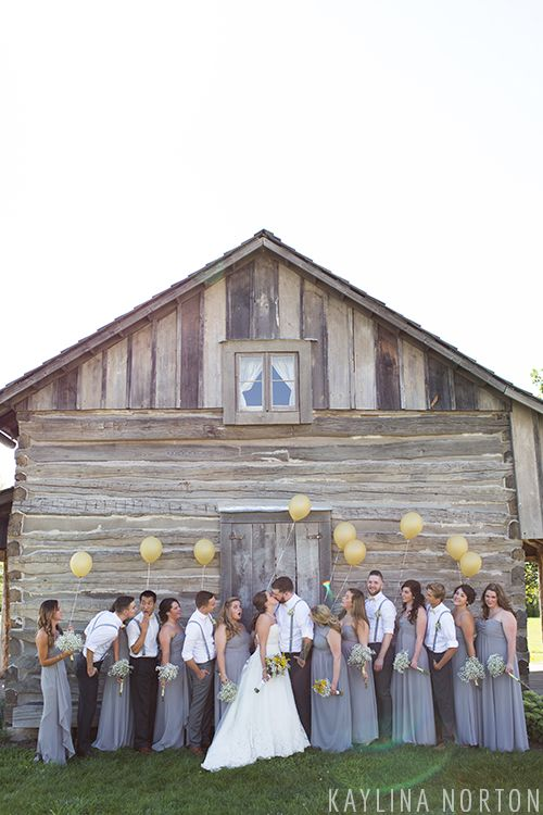 Rustic Bridal Party Pictures: Grove City, Ohio Wedding - Kaylina Norton Photography