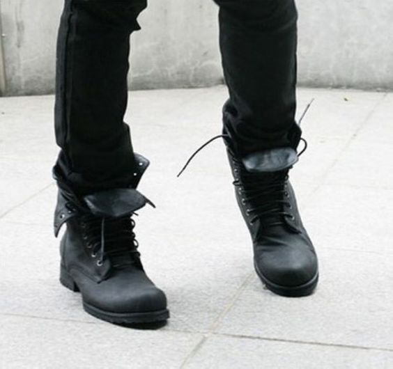Mens jean and combat boots - Google Search