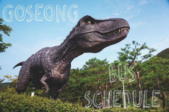 Goseong Bus Schedule, Gyeongsangnam-do