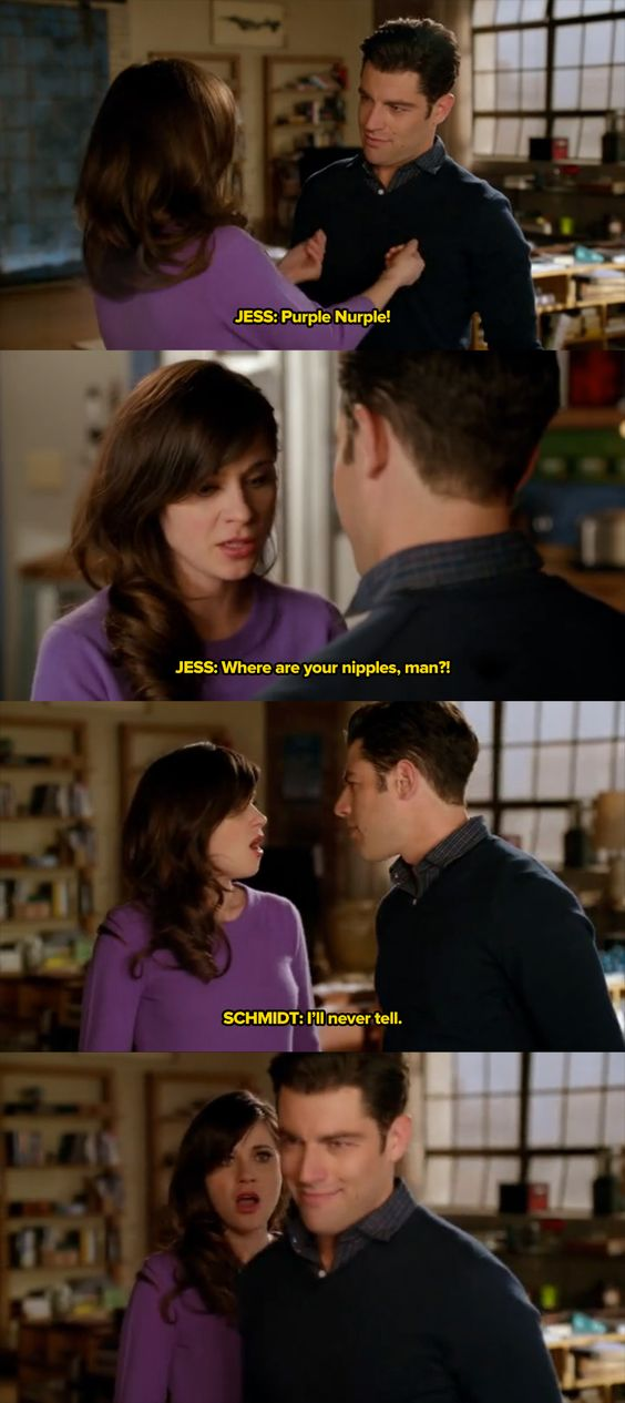 Schmidt from new girl has no nipples? http://www.youtube.com/headamuse
