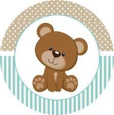 Resultado de imagen de cupcake toppers teddy