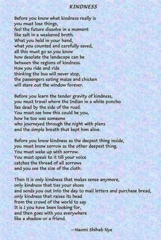Naomi Shihab Nye- Kindness:
