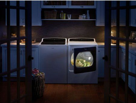 """Whirlpool WGD8000DW 29"""" Cabrio Series Gas Dryer with 8.8 cu. ft. Capacity, 24 Dry Cycles, 5 Temperature Settings, Wrinkle Shield™ Plus Option, EcoBoost™ in White"""