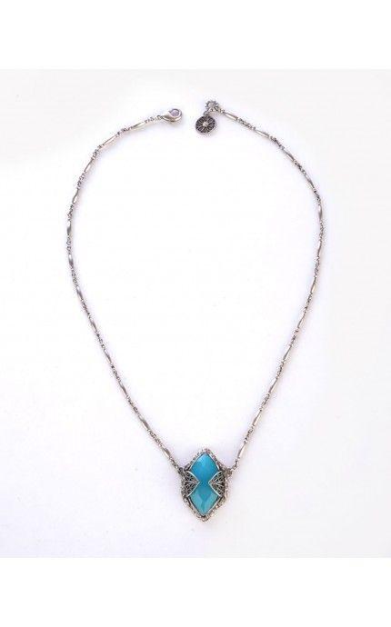 Pinup Girl Clothing- Gia Jewel Pendant in Aqua | Pinup Girl Clothing