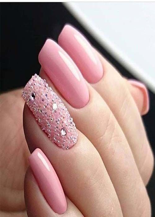 beautiful 21 nails pink color in 2019