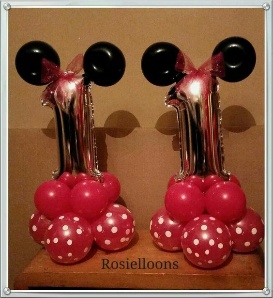 Minnie mouse centerpieces balloon center pieces centros