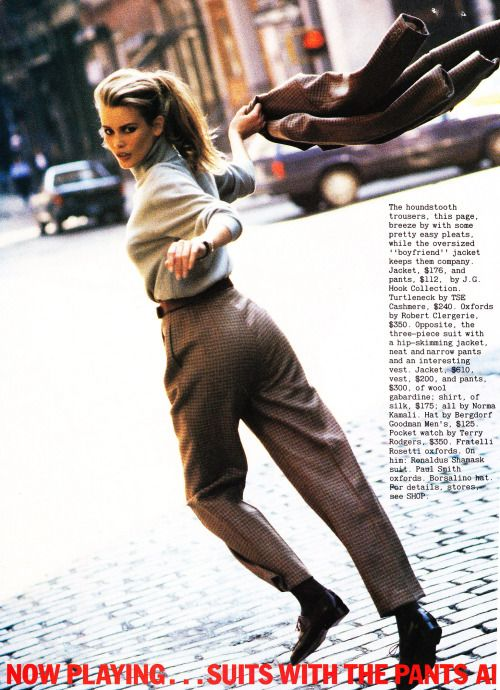 80s-90s-supermodels: This Suits Got Legs! MADEMOISELLE US...