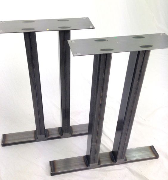 Table Legs Steel Dining Pedestals in by WickedHairpinsUK on Etsy