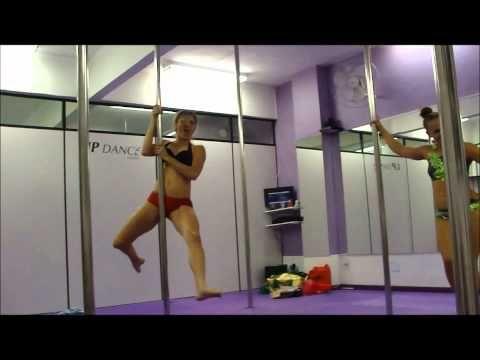 A funny pole dance battle between Oona Kivela and Grazzy Brugner