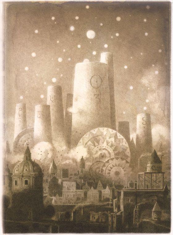 wallpaper, fond ecran, image Shaun Tan - The Arrival (Là où vont nos pères)