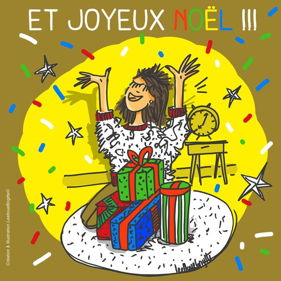 Et joyeux Noel hien ! bisous !! Illustration by Leellouebrigitte©