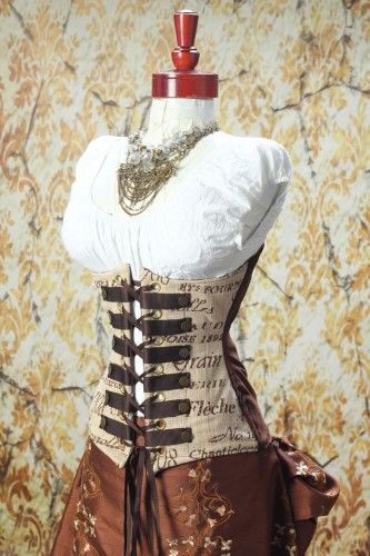 Love the fabric on this corset!