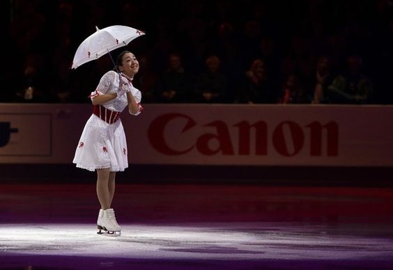 Mao Asada from Japan performs performs during the exhibition program at the World Figure Skating Championships Sunday, March 17, 2013, in London, Ontario.