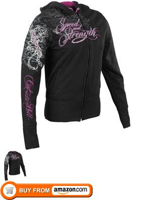 Speed and Strength Women's Cat Out'a Hell Armored Hoody - Small/Black, Speed and Strength Womens Cat Outa Hell Armored Hoody Cotton-poly blend frameRemovable C.E. approved shoulder and elbow protectorsPremium 3D embroidered art, #Automotive, #Active Hoodies, $98.96