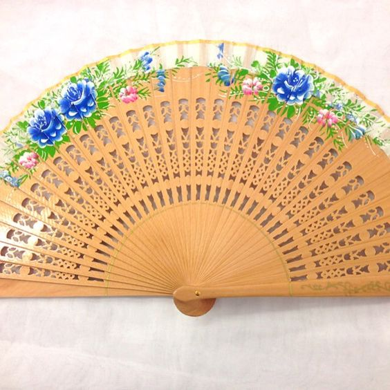 Vintage wood bling out  fan for vintage wedding party decor /Spanish fan/dancing fan/table setting /wall decoration/something old and new by CaSales on Etsy https://www.etsy.com/listing/165272787/vintage-wood-bling-out-fan-for-vintage