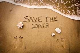 Save the date beach