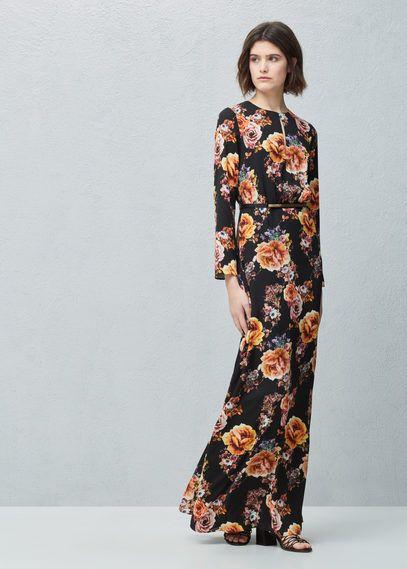Robe longue florale | MANGO