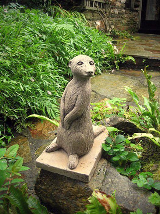 Large Meerkat Garden Ornaments, Meercat Statues