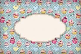 Resultado de imagem para etiquetas com cupcakes