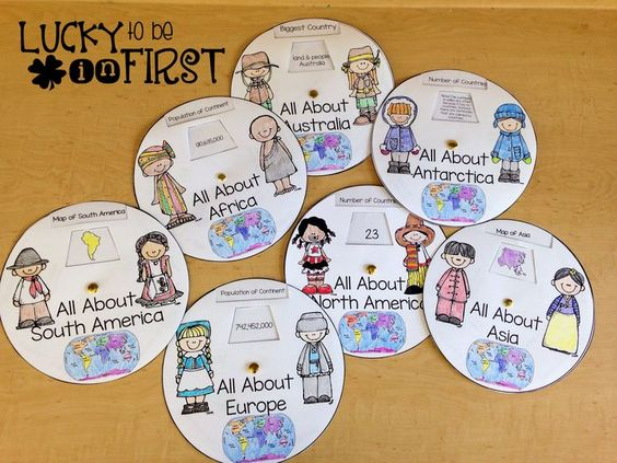 Teach your students about the 7 continents with It's a Small World Continent Study! 150+ pages of games, activities, art projects, and more!