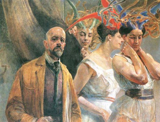 Jacek Malczewski - Self-portrait with Gorgons