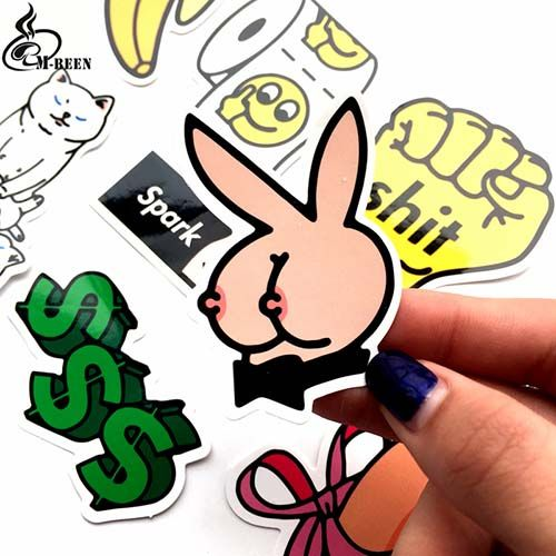8pcs Pack Funny Bad Stickers With Images