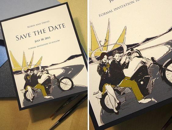 Marriage Harley Davidson Wedding Invitations