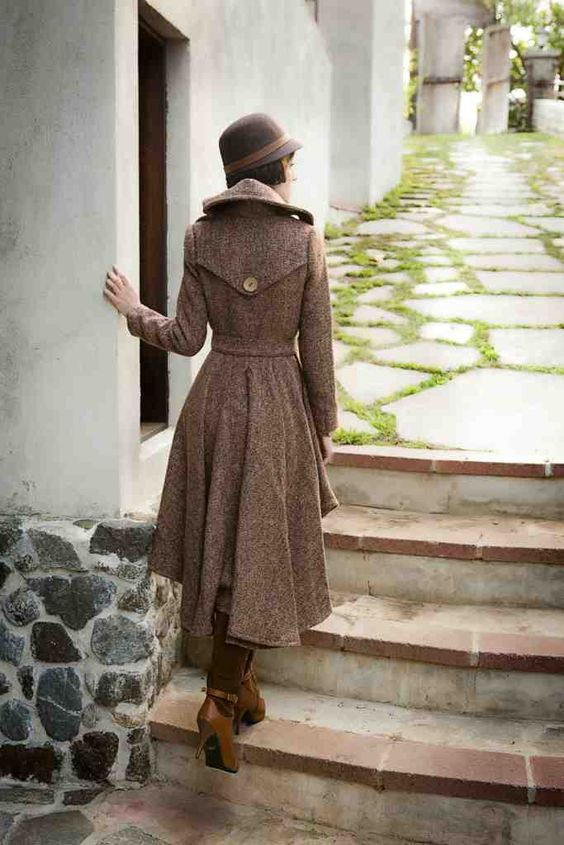 Glam Slam High/Low Tweed Wool Coat | Tailor and Stylist | Coats