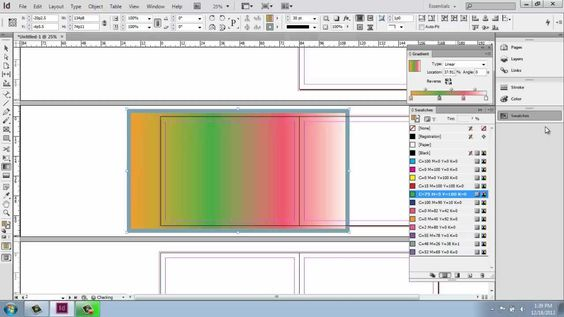 Adobe InDesign CS6 - Interior Design Portfolio - Part 5 - Color, Swatche...