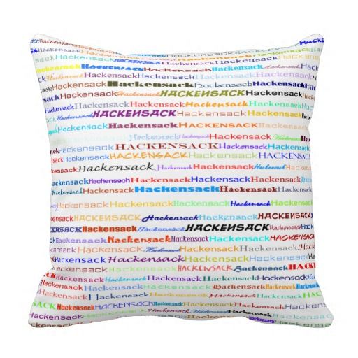 Hackensack Text Design II Throw Pillow