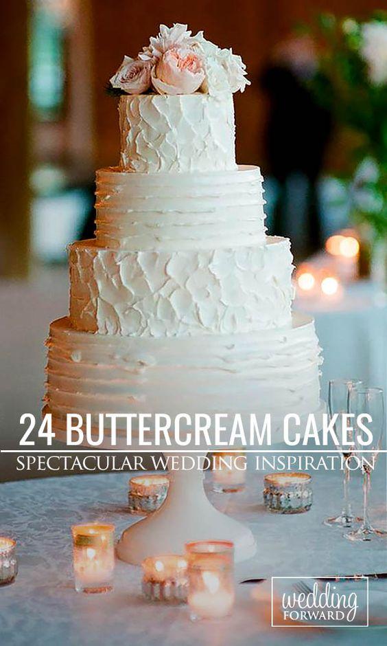 Buttercream wedding cake, Wedding cakes and Cake ideas on ...