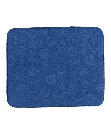 Another great find on #zulily! Blue Anchors Countertop Drying Mat #zulilyfinds