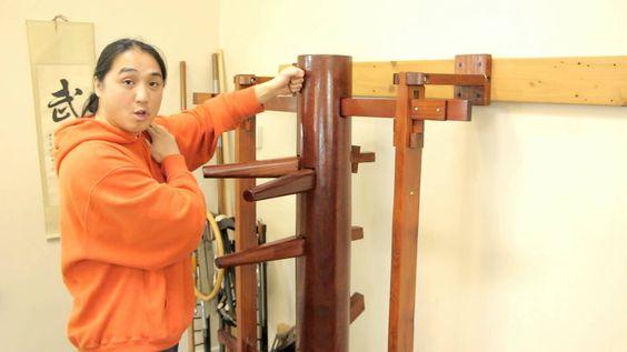 Wing Chun Muk Jong (Wooden Dummy) Beginners Training Drill Developing On...