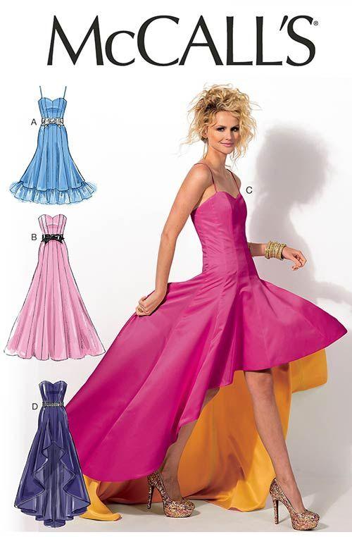 Hi Lo Dress Patterns : dress, patterns, McCall's, Dress, Patterns,, Sewing, Dresses