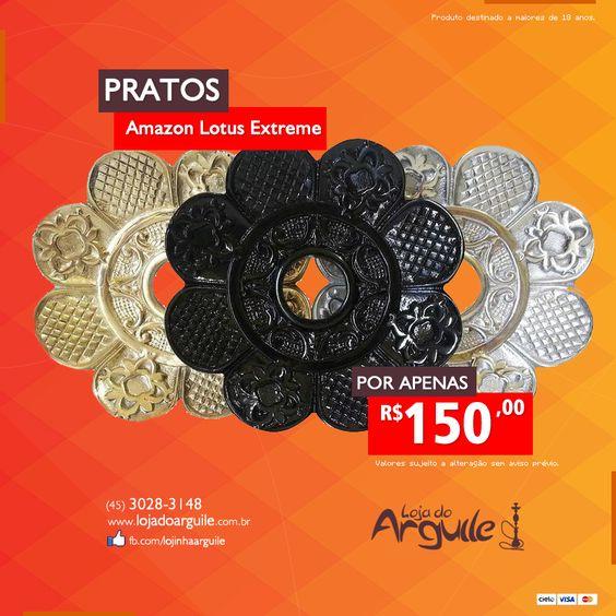 Prato Amazon Lotus Extreme  DE R$ 185,00 / POR R$ 150,00 Em até 18x de R$ 10,90 ou R$ 142,50 via depósito  Compre Online: http://www.lojadoarguile.com.br/prato-amazon-lotus-extreme