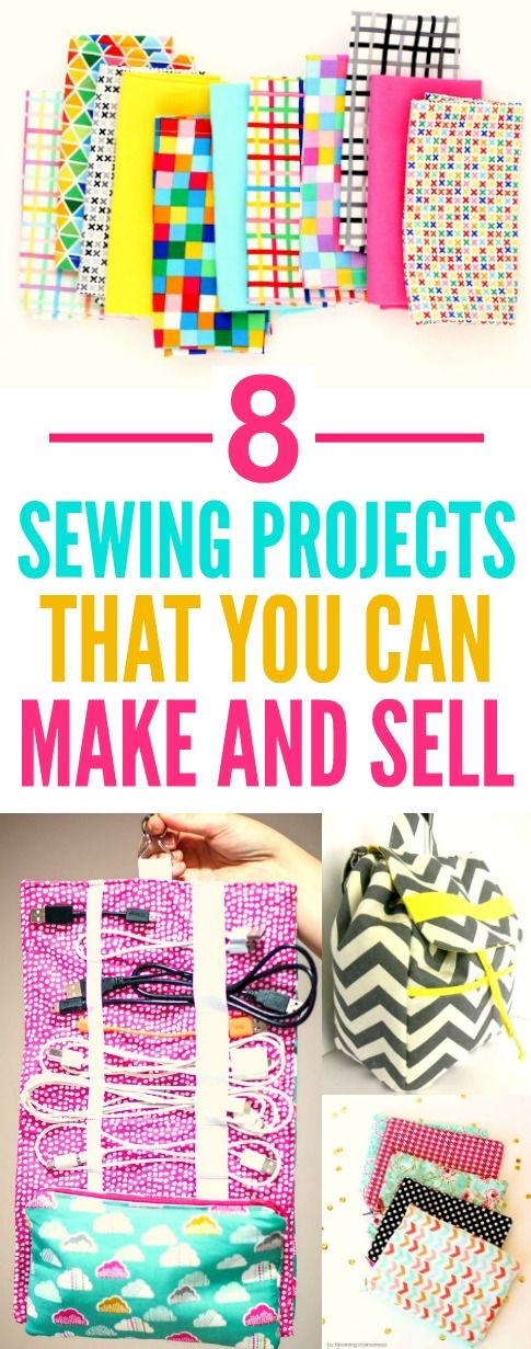 These 8 easy sewing projects you can make and sell are THE BEST! I'm so glad I found this AWESOME post! I am SO pinning for later!