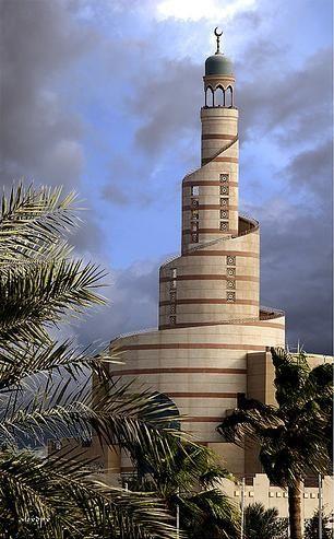 Lighthouse.Doha, Qatar.  Interesting spiral design.