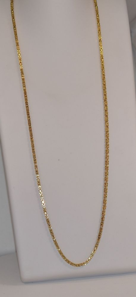 10k Yellow Gold Squared Byzantine Italian 5 Mm 32 1 2 Inch Men S Necklace Gold Chains For Men Men S Necklace Yellow Gold
