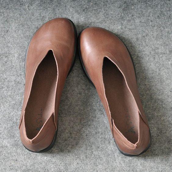 Women Retro handmade leather shoes