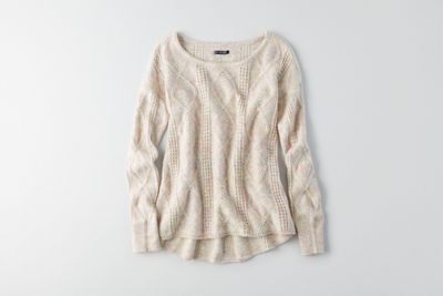 AEO Textured Jegging Sweater  by  American Eagle Outfitters | Warm up to cooler weather with a new collection of this season's essentials – featuring our coziest sweaters yet, in rich hues and soft textures. Shop the AEO Textured Jegging Sweater  and check out more at AE.com.