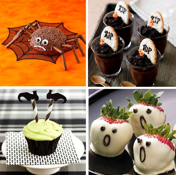 Postres divertidos para Halloween http://bit.ly/1k4b0dC
