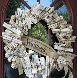 Book club party wreath